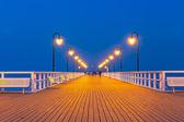 Wooden pier at Baltic sea in Poland — ストック写真