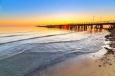 восход солнца в балтийском море в сопоте, польша — Стоковое фото