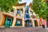 The Crooked house in Sopot — Stock Photo