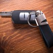 Car keys composing in gun shape — Stock Photo #56253553