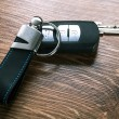 Car keys composing in gun shape — Stock Photo #56253557