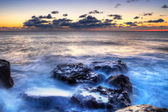 Atlantic ocean at sunset — Stockfoto