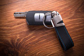 Car keys composing in gun shape — Foto de Stock