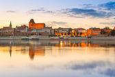 Torun old town at sunset, Poland — Stock Photo