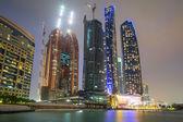Skyscrapers of Abu Dhabi at night — Stock Photo