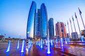 Etihad Towers buildings in Abu Dhabi — Stock Photo