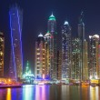 Dubai Marina at night — Stock Photo #57797419