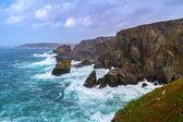 Coastline of Mizen Head in stormy weather, Ireland — Stock Photo
