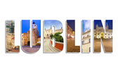 Lublin sign made by collage of photos — Stock Photo