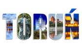Torun sign made by collage of photos — Stock Photo
