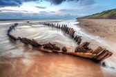 The Sunbeam ship wreck on the beach in Ireland — Stock Photo