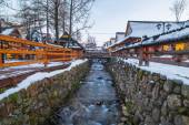Krupowki street in Zakopane at winter time, Poland — Foto de Stock