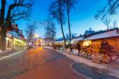 Krupowki street in Zakopane at winter time, Poland — Stock Photo