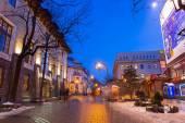 Krupowki street in Zakopane at winter time, Poland — Foto Stock