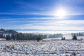 Panorama of Tatra mountains at winter time — Stok fotoğraf