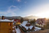 Zakopane in Tatra mountains at winter time — Stock Photo