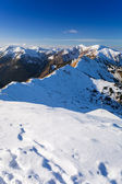 Tatra mountains in snowy winter time, Poland — Stock Photo