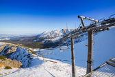 Ski lift on Kasprowy Wierch in Tatra mountains — Stock Photo