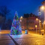 Christmas decoration on the street in Zakopane — Stock Photo #60546001