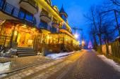 Traditional restaurant at the Krupowki street in Zakopane — Stock Photo