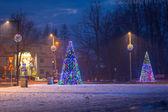 Christmas decoration on the street in Zakopane — Stock Photo