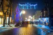 Christmas decoration on the Krupowki street in Zakopane — Stock Photo