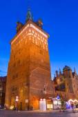 Tower of the medieval torture chamber in Gdansk — Stock Photo