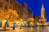 Historical city hall on the old town of Gdansk, Poland — Stock Photo