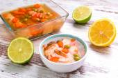 Salmon aspic with vegetables — Stock Photo