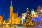 Historical city hall on the old town of Gdansk — Stock Photo