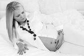 Beautiful pregnant woman portrait — Stock Photo