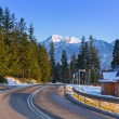Road in Tatra mountains at winter time — Stock Photo #62045273
