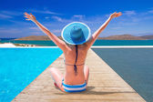 Sun holidays in Greece — Stock Photo