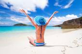 Sun holidays on the tropical beach — Stock Photo