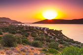 Sunrise over Mirabello Bay on Crete — Stock Photo