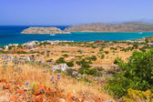 Turquise water of Mirabello bay on Crete — Stock Photo