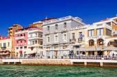 Architecture of the old town of Agios Nikolaos on Crete — Stock Photo