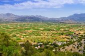 Agriculture and farming Lasithi plateau on Crete — Stok fotoğraf
