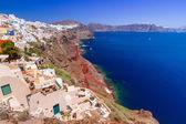 Santorini island with white buildings, Greece — Stock Photo