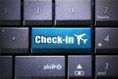 Internet check-in — Stock Photo