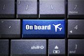 On board button — Stock Photo
