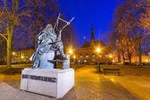 Monument of astronomer Johannes Hevelius in Gdansk — Stock Photo