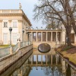Palace on the Water in Royal Baths Park of Warsaw — Stock Photo #66695447