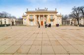 Royal Baths garden at the Palace on the Water, Warsaw — Stock Photo