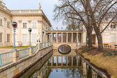 Palace on the Water in Royal Baths Park of Warsaw — Stock Photo