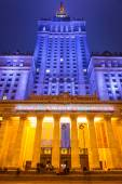 The Palace of Culture and Science in the city center of Warsaw, Poland — Стоковое фото
