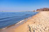 Hermosa playa en el mar báltico — Foto de Stock