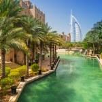 Burj Al Arab hotel from the Madinat Jumeirah in Dubai — Stock Photo #69381877