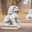 Chinese stone statues in the Royal Bath park — Stock Photo #69382807