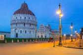 Piazza dei Miracoli avec la tour de Pise — Photo